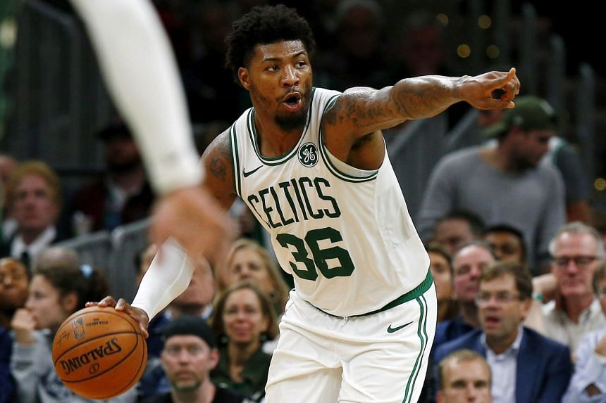 In 53 games in 2019-20 season, Marcus Smart was averaging 4.8 assists and 3.8 rebounds per game.