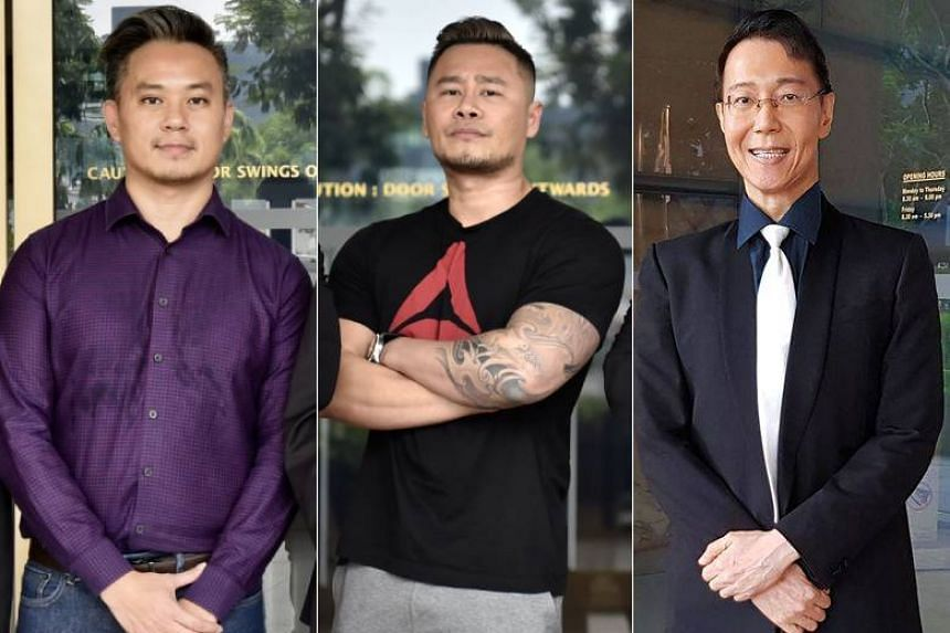 (From left) Mr Bryan Choong Chee Hong, Mr Johnson Ong Ming and Dr Roy Tan Seng Kee filed three separate legal challenges against Section 377A of the Penal Code last year and in 2018.