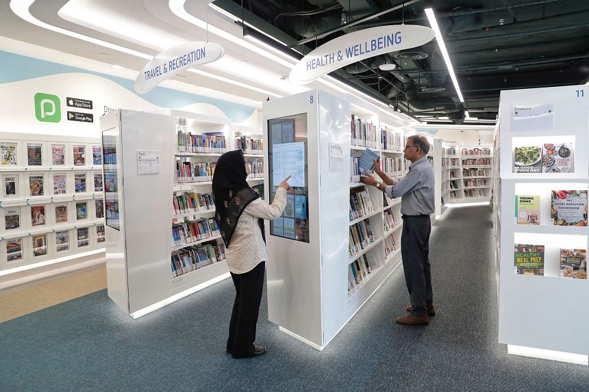 File photo taken in January last year of library@ harbourfront. The National Library Board says the new extensions will apply to all loans made until June 30.