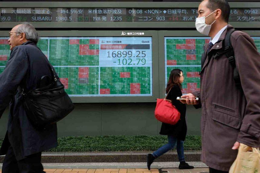 Japan's Nikkei sank 3.2 per cent.