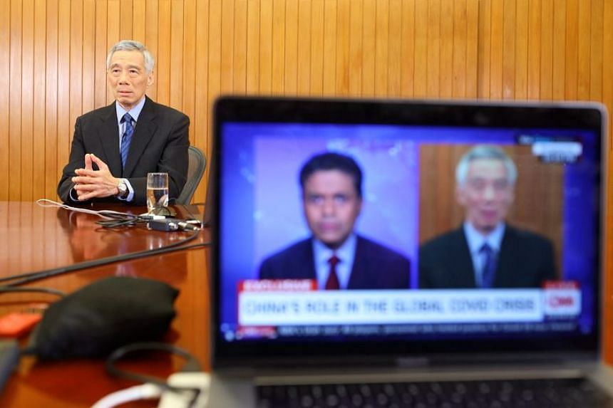 Prime Minister Lee Hsien Loong in a live interview on CNN's programme, Fareed Zakaria GPS.