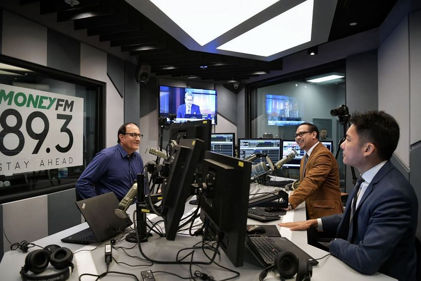 Minister for Communications and Information S. Iswaran during an interview on Money FM 89.3 on March 31, 2020.