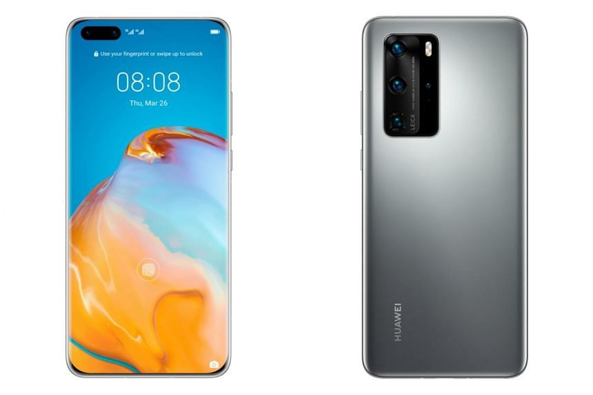 Singapore will be the first country in Asia to get the smartphones when the P40 and the P40 Pro (above) become available on April 4.