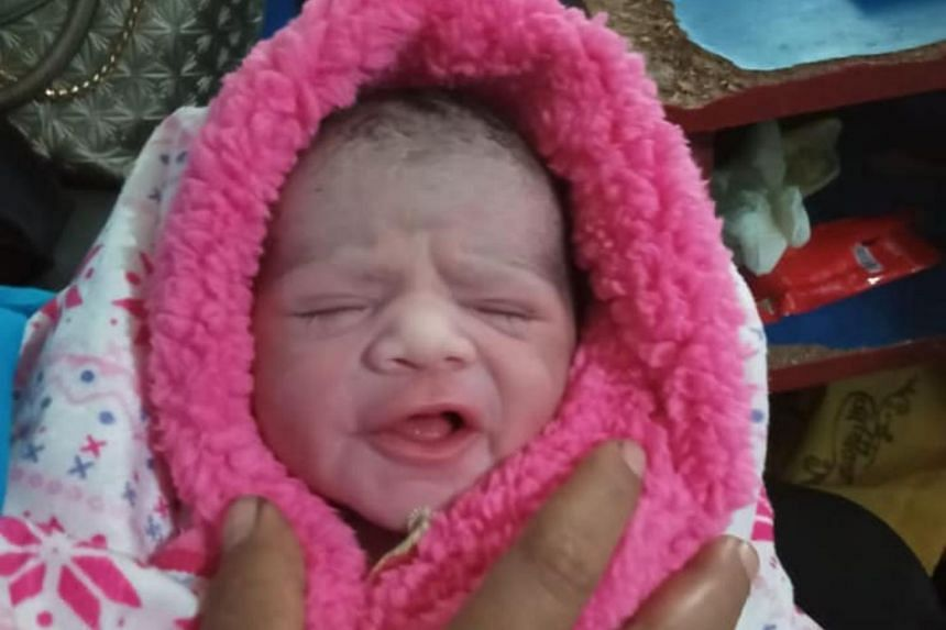 The baby arrived on March 30, and the Migrant Workers' Centre said that both mother and child are healthy and fine.