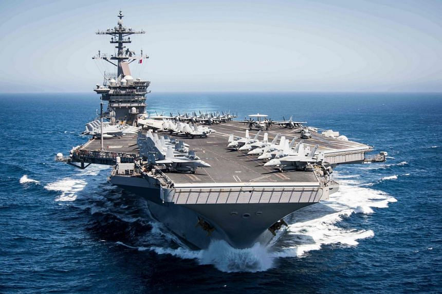 A 2017 photo showing the USS Theodore Roosevelt.