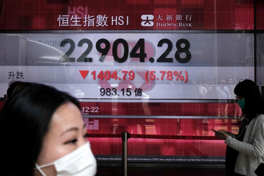 FTSE China A50 futures in Singapore were down 0.85 per cent and Japan's Nikkei fell 1.86 per cent in early trade.