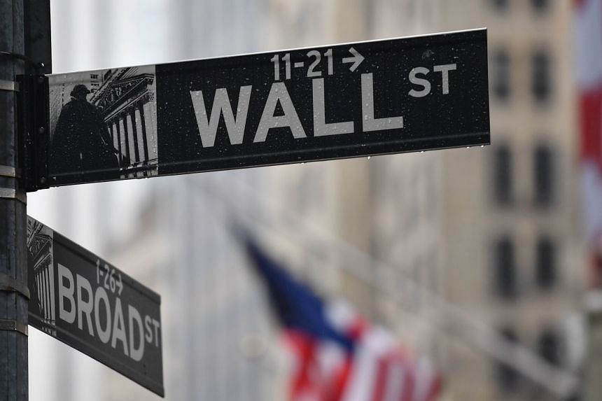 The Wall Street street sign is seen on March 23, 2020 in New York City.