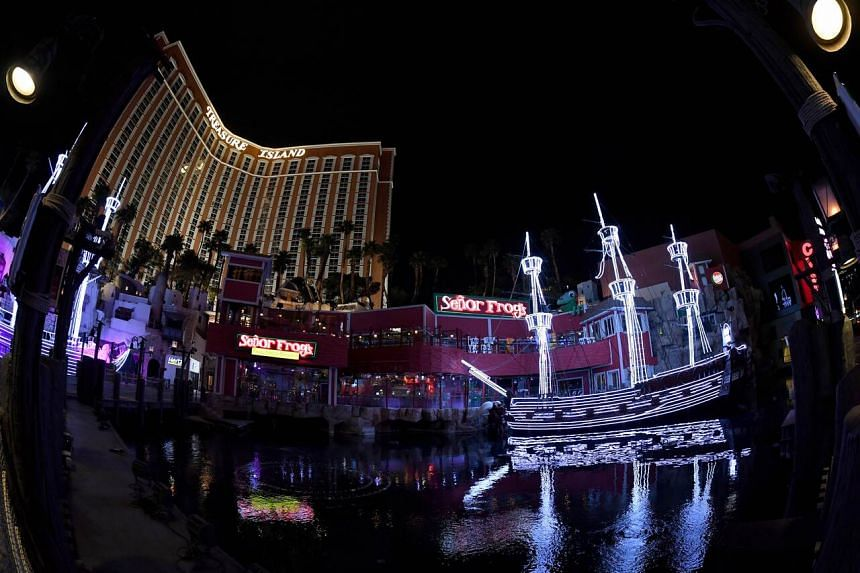 The Treasure Island Hotel & Casino on the Las Vegas Strip remains closed in Las Vegas, US, on March 28, 2020.