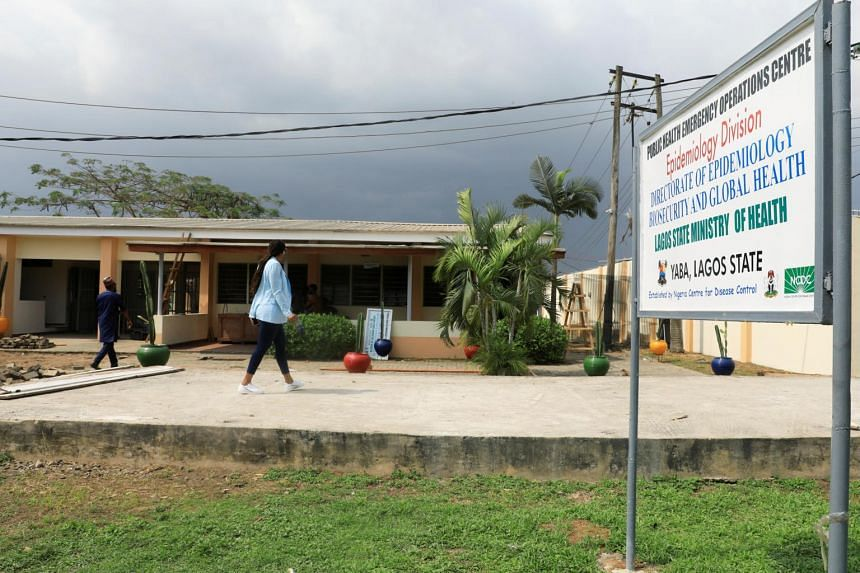 The Public Health Emergency Operations Centre at the mainland hospital in Yaba, Lagos, Nigeria.