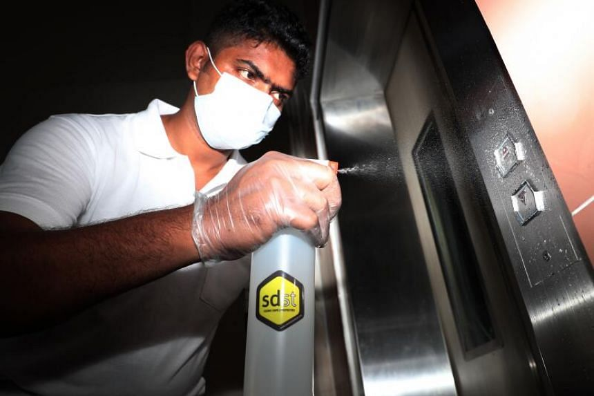 A self-disinfecting coating has been applied to buttons in all HDB lifts and lift lobbies.