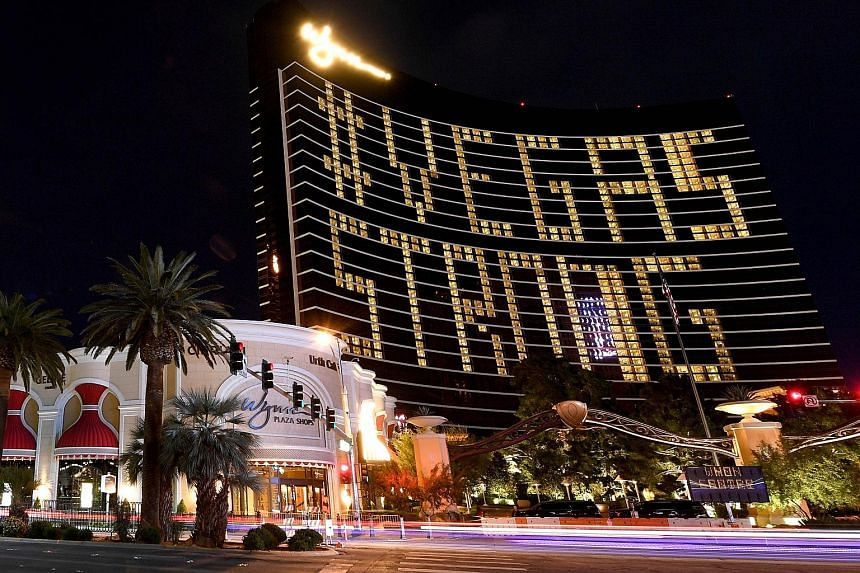 The Wynn Las Vegas (above) and all other casinos in the US state of Nevada are closed because of the coronavirus. Casinos in Macau, the world's biggest gambling hub, are open but their revenues have plunged because of travel restrictions due to the v
