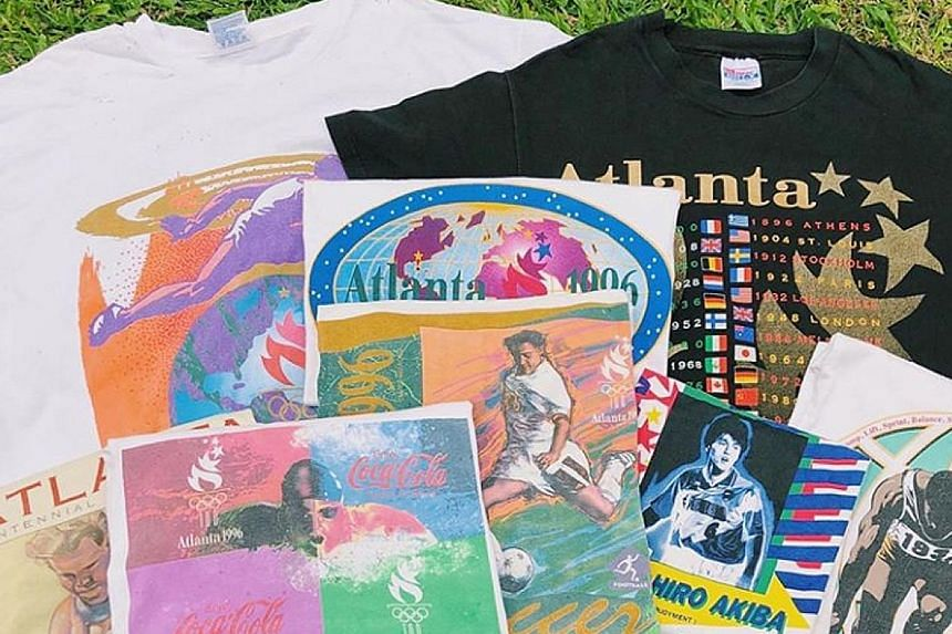 Karanguniboyz sells a variety of second-hand and vintage clothing, a majority of which are vintage T-shirts (left).