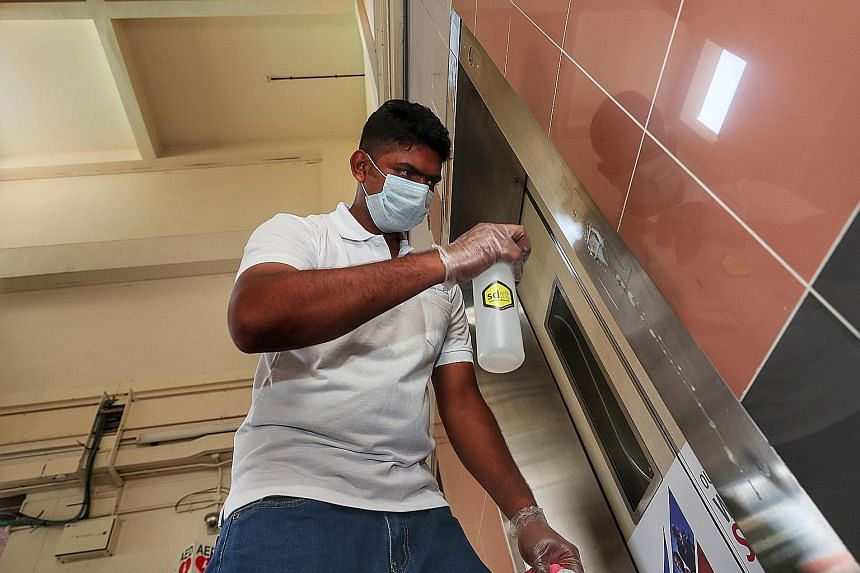 The coating, called sdst, was applied in all 26,000 HDB lifts over the past two weeks, following a donation of 650 litres of sdst by the Changi Airport Group's philanthropic arm Changi Foundation.