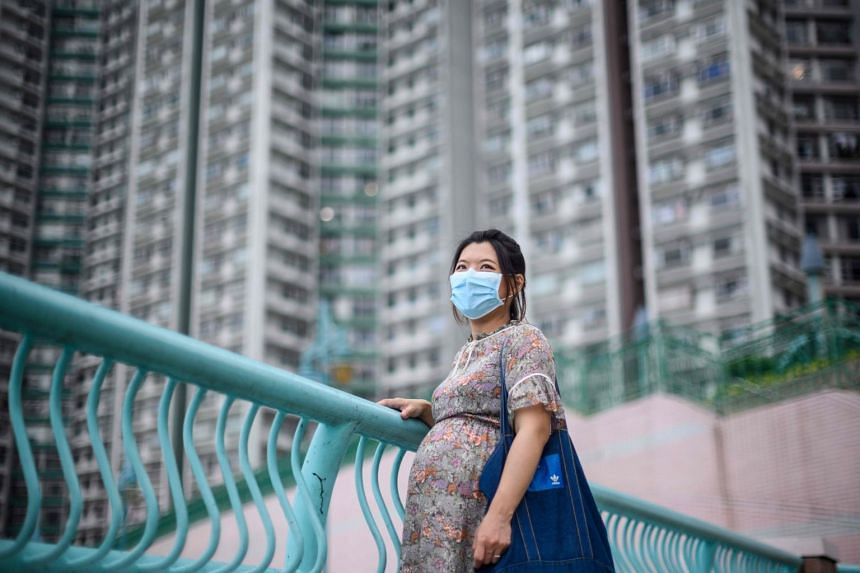 Ms Jaime Chui has been staying in her Hong Kong home for most of her pregnancy.