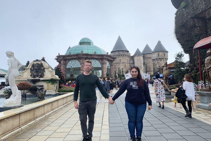 Victoria Anne and her boyfriend Mitchell Rogers in Da Nang, Vietnam.