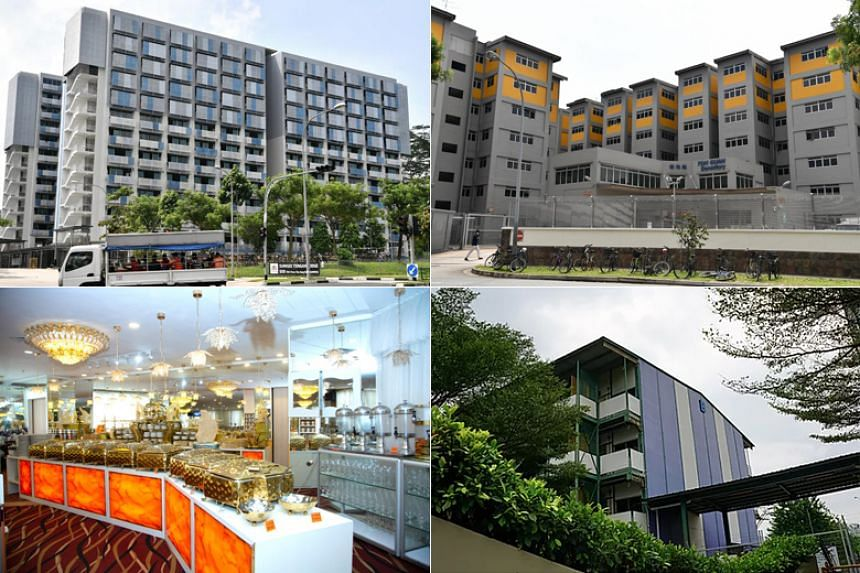 The new clusters are at (clockwise from top left) Sungei Tengah Lodge, Toh Guan Dormitory, Cochrane Lodge II and The Orange Ballroom.
