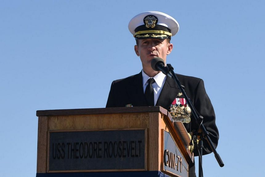Captain Brett Crozier was relieved of his command after a letter calling for stronger action was leaked to the media.
