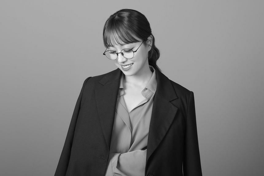 Lim Hyun-ju in a black and white photo taken to mark the day she went braless.