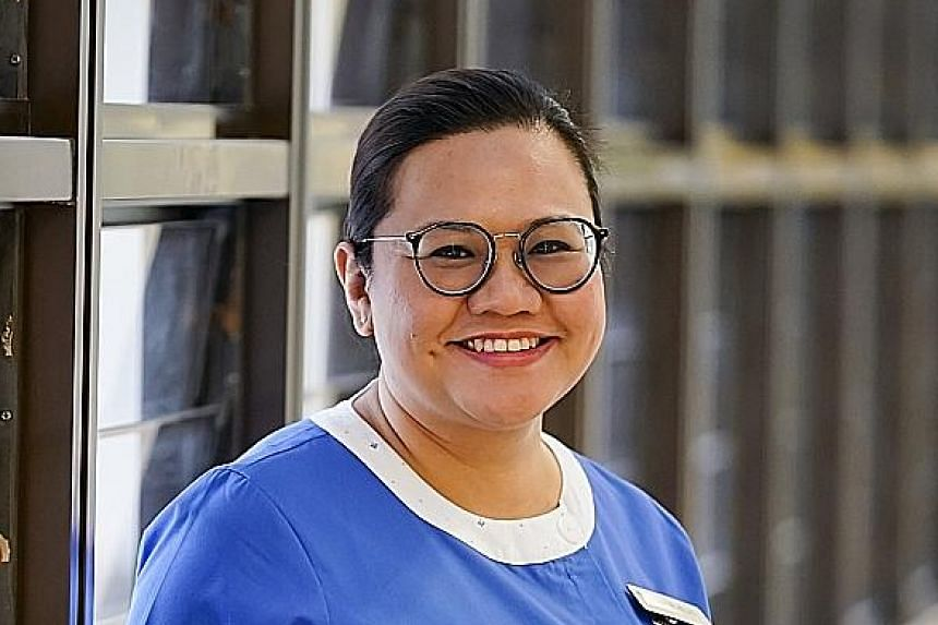 Ms Pauline Chong, 40, works as a senior nurse clinician in the general and geriatric wards at Alexandra Hospital. She caught the severe acute respiratory syndrome, or Sars, in 2003 when working as a junior nurse at the National University Hospital. N