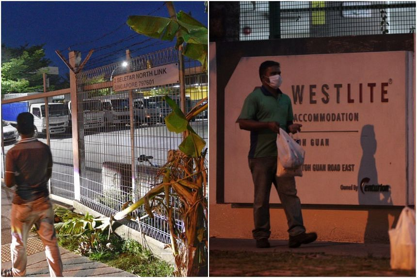 S11 Dormitory @ Punggol (left) and Westlite Toh Guan dormitory have been gazetted as isolation areas. Close to 20,000 workers living there will be quarantined for 14 days.