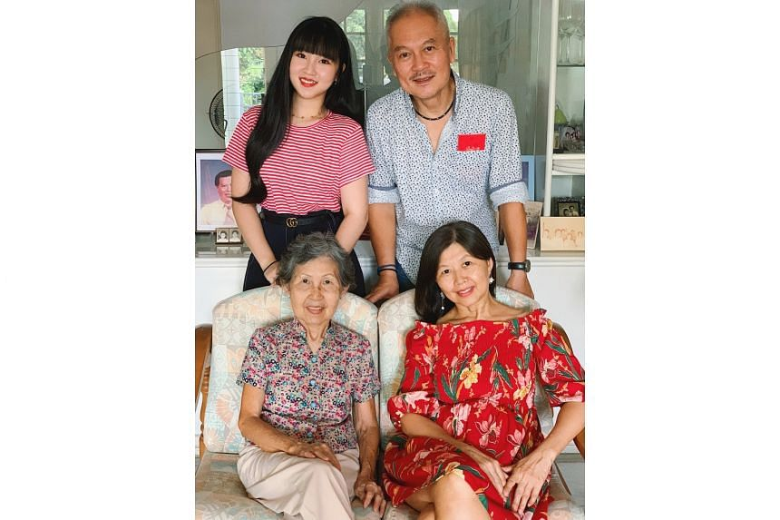 Malaysian Rachel Koh and her father are in Singapore, while her mother and grandmother are stuck in Malaysia due to the lockdown, so she chats with her mother on FaceTime every other day.