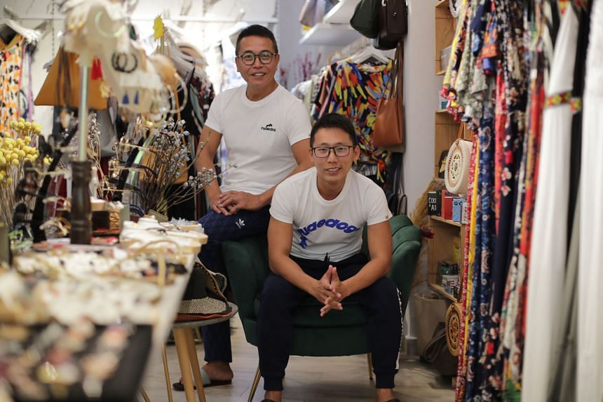 Mr Zachery Masot (far left) and Mr Darryl Yan, founders of a group of touristdependent stores in Haji Lane, say their staff contributed greatly to the company during good times, so during this coronavirus crisis, it is important for the company to take ca