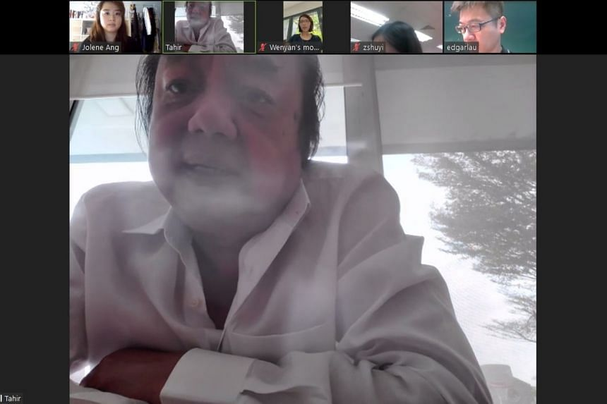 Indonesian billionaire and philanthropist Dr Tahir speaks to reporters from Singapore Press Holdings in a Zoom interview on April 6, 2020.