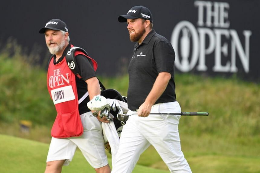 Ireland's Shane Lowry (right) seen during the British Open on July 20, 2019.
