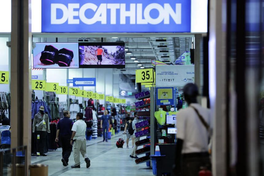 Decathlon noted a 43 per cent increase in sales of home fitness products.
