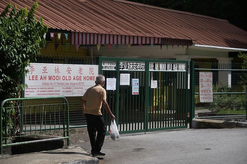 Since the emergence of a cluster at the Lee Ah Mooi Old Age Home, the Ministry of Health and the Agency for Integrated Care have introduced stricter measures for nursing homes in Singapore. ST PHOTO: KUA CHEE SIONG