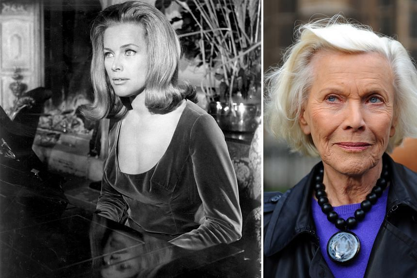 Former Bond girl Honor Blackman (above right, in a 2009 photograph) also played Catherine Gale in the 1960s hit television series, The Avengers.