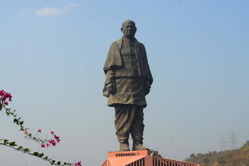 The Statue Of Unity in India on Feb 13, 2020.