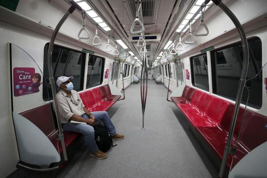 Reporter Rohit Brijnath takes an almost empty train heading towards Orchard Road.