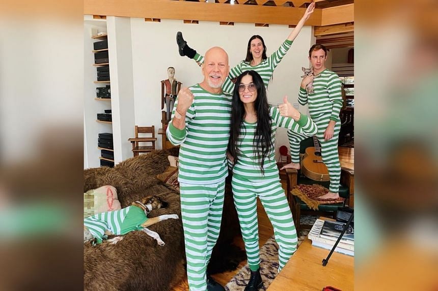 Hollywood actors Bruce Willis and Demi Moore are self-isolating with their children.