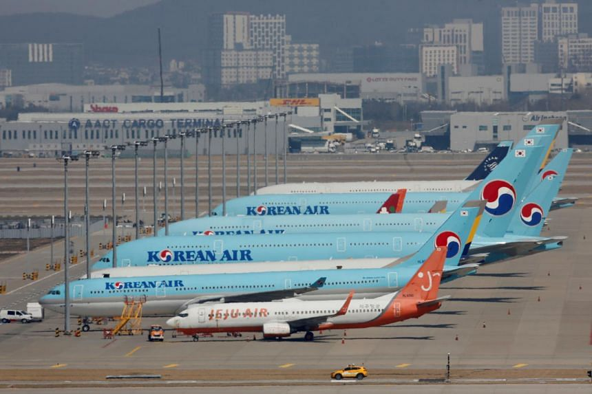 Most of Korean Air's staff will go on leave from April 16 for six months.