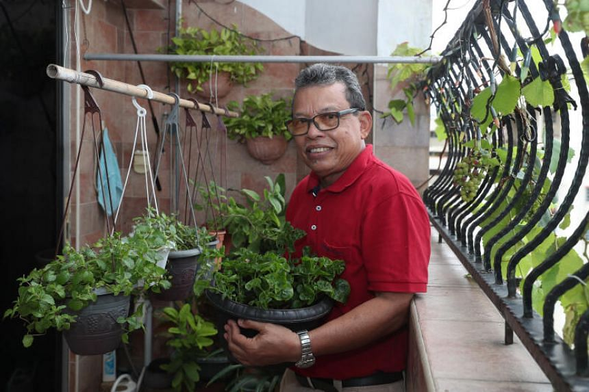 Mr Asari Bin Rafie, a part time taxi driver and home-based gardener.