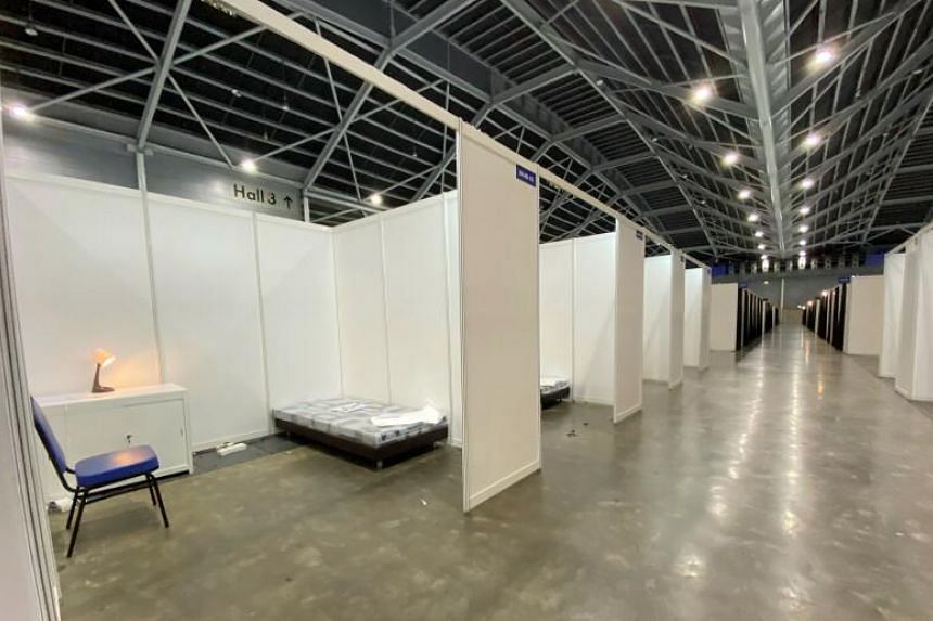 The Singapore Expo is being turned into a facility to care for Covid-19 patients.