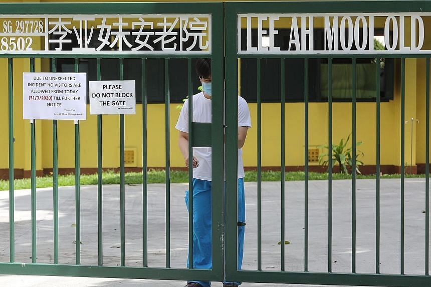 Once the first coronavirus case was detected at Lee Ah Mooi Old Age Home on March 31, all staff at the Thomson Lane home were immediately quarantined.