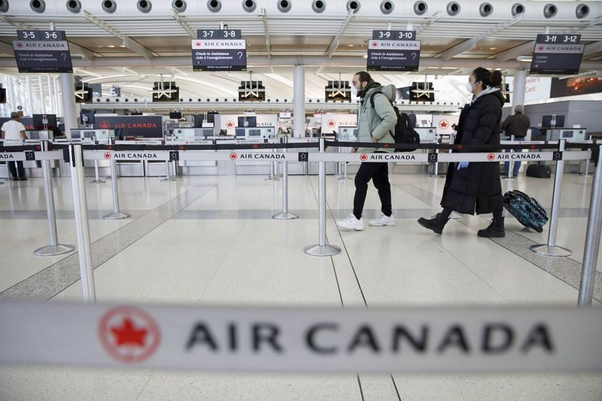 Air Canada furloughed nearly half of its Canada-based workforce of 36,000 on March 30 after seeing business abruptly dry up by more than 90 percent.