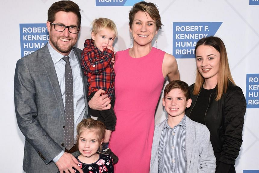 Maeve Kennedy Townsend Mckean (centre) and son Gideon (second from right) attend the Robert F. Kennedy Human Rights Hosts 2019 Ripple Of Hope Gala & Auction In NYC, on Dec 12, 2019.