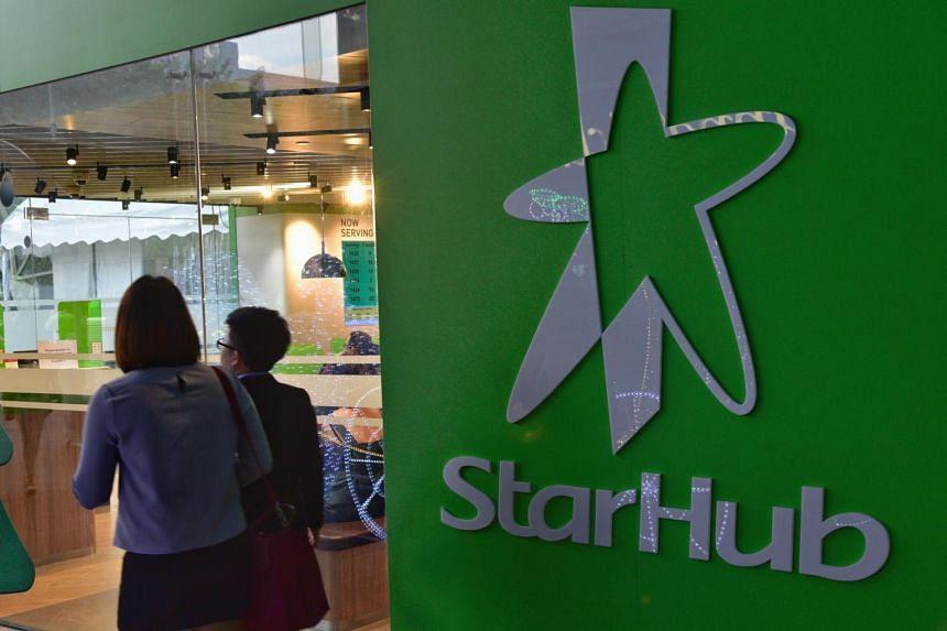 StarHub outlet at Plaza Singapura.