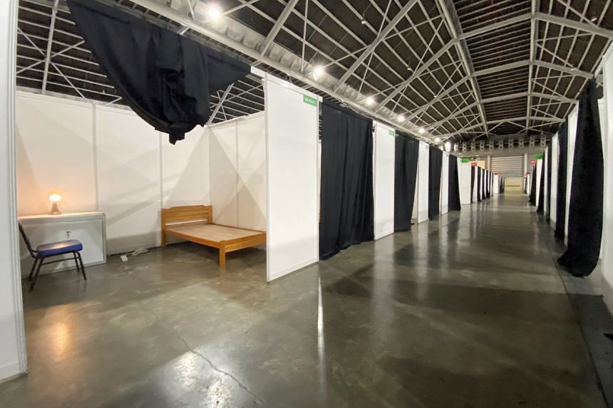 At the Singapore Expo, one hall will house those in recovery while another hall will be for patients with a mild case of the disease.