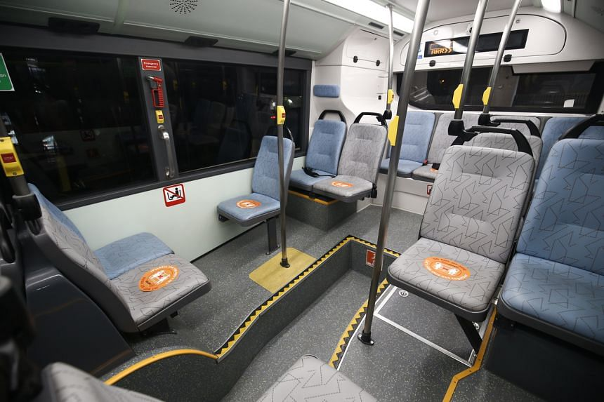 Standing spaces and seats that should be avoided will be marked out.