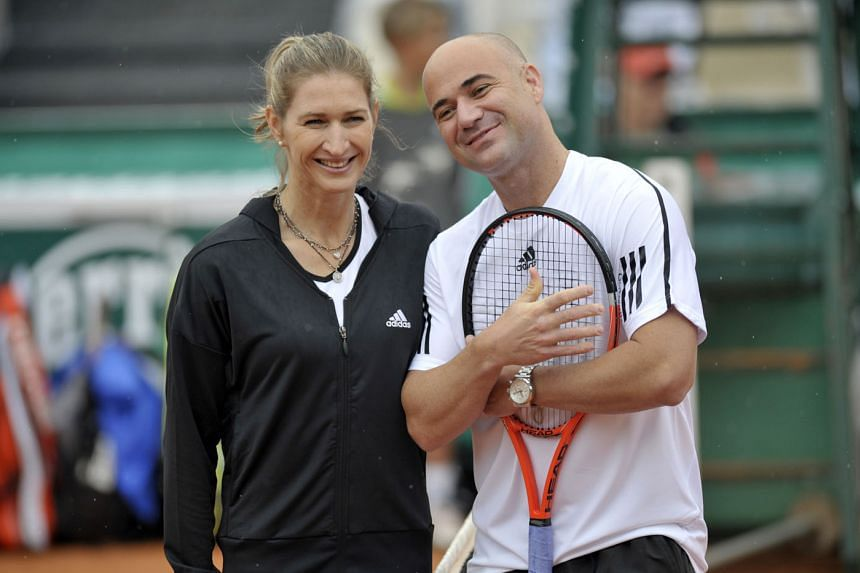 Above: Tennis legends and husband and wife, Andre Agassi and Steffi Graf share 30 Grand Slam titles between them.