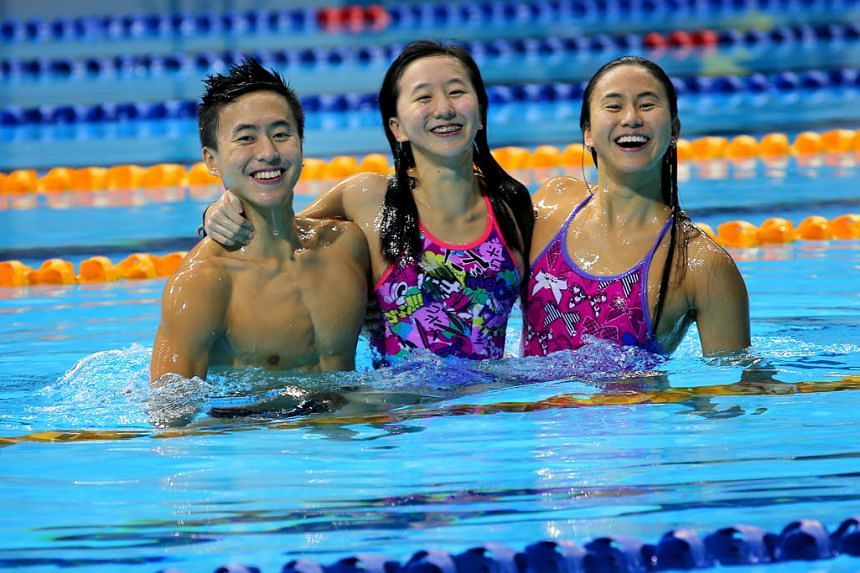 Clockwise, from above: The Quah siblings - Zheng Wen, Jing Wen and Ting Wen - first competed together at the SEA Games 2015 on home soil in Singapore. Tennis legends and husband and wife, Andre Agassi and Steffi Graf share 30 Grand Slam titles betwee