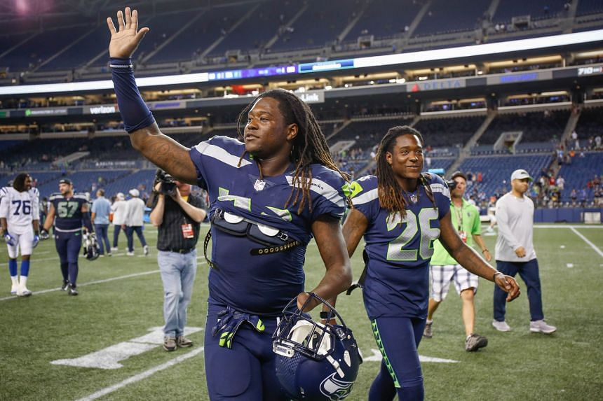 Above: The Seattle Seahawks' twins, linebacker Shaquem Griffin (left) and cornerback Shaquill Griffin.