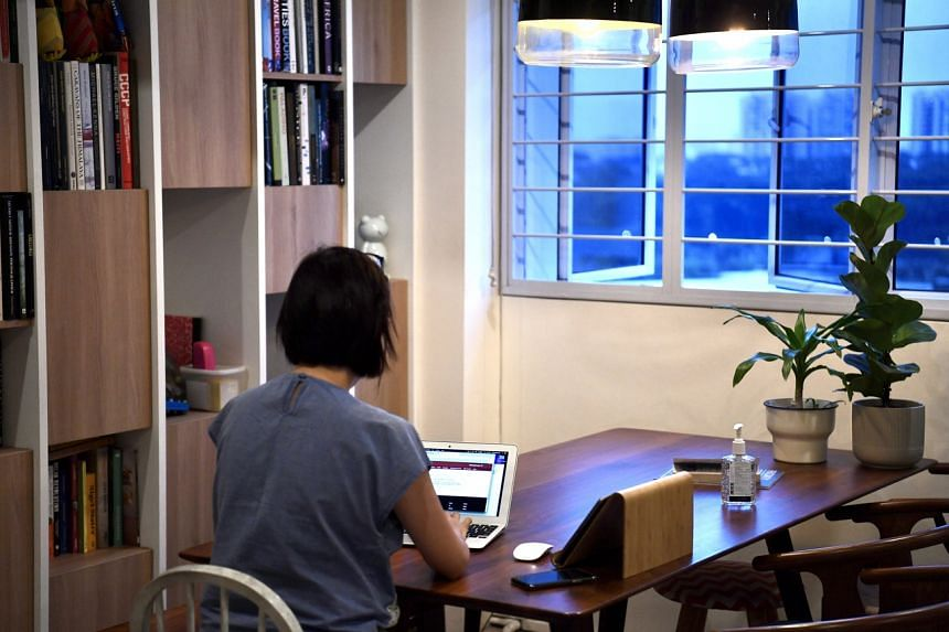 Many people are now working from home amid Singapore's circuit breaker measures.