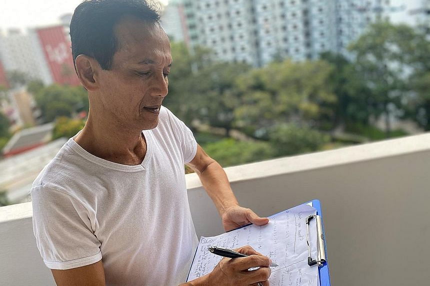 Mr Zulkifli Atnawi, 60, helps to get groceries for several Mei Ling Street neighbours, checking in on them and going door to door with a clipboard to compile a list of items they need. PHOTO: COURTESY OF ZULFEQAR ZULKIFLI