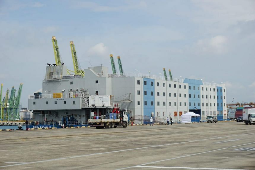One of the floating accommodation facilities that will be used to house healthy foreign workers.