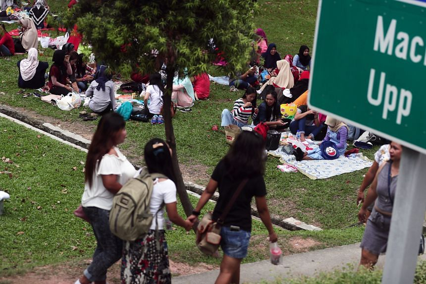 Foreign domestic workers should not loiter or gather in any public spaces.